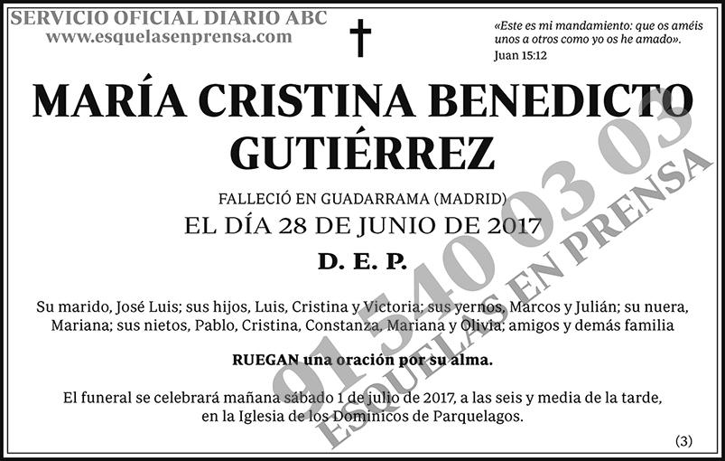 María Cristina Benedicto Gutiérrez
